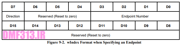 wIndex Format when Specifying an Endpoint