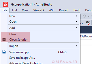 Atmel Studio Close Solution