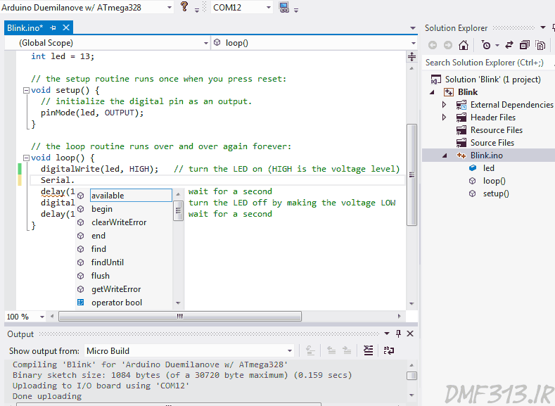arduino and visual studio